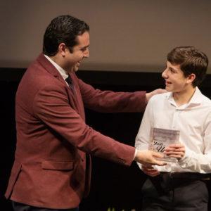 Diego recibe en su tierra natal el premio 'Jaén Única', categoría Brillante Cantera