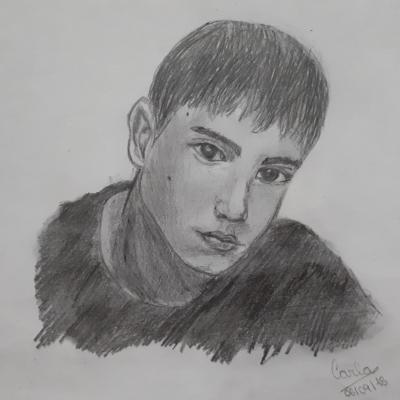 Dibujo de @carlagrcia.07 ¡increíble cómo ha sabido retratar la mirada de Diego!