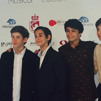 Pau Gimeno, Óscar Pérez, Cristian López y Diego Rey