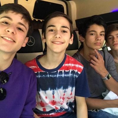 Diego, Óscar, Cristian y Pau