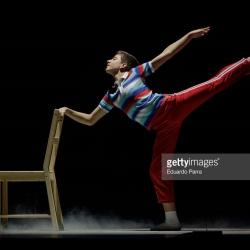 Diego Rey en la presentación para la prensa de Billy Elliot